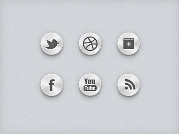 social media ui buttons