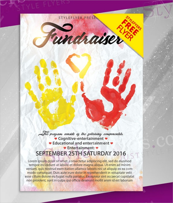 Fundraiser Flyer Template Free Fundraiser Flyer Templates Af