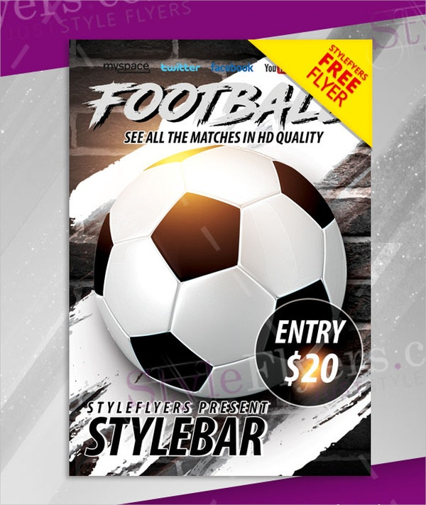 Football FREE PSD Flyer Template