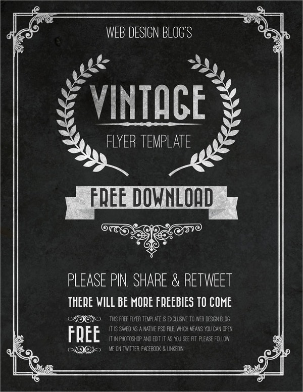 Vintage Free Flyer Template