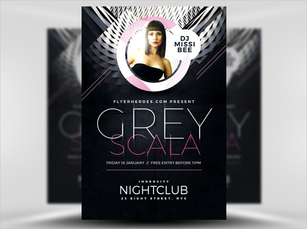 Grey Scala Free Flyer Template