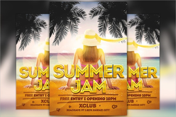 Free Beach Party Flyer Template