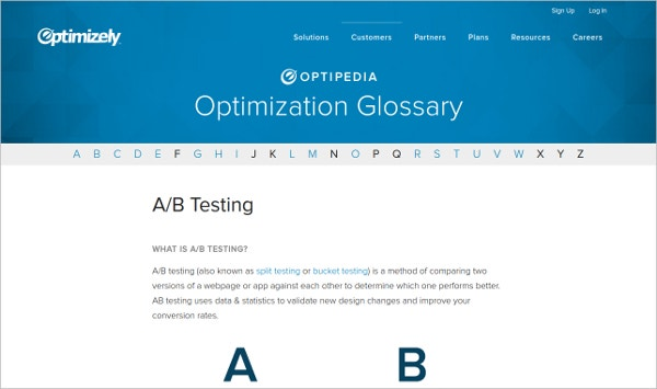 optimizely ab testing tool