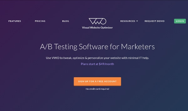 vwo ab testing software for marketers