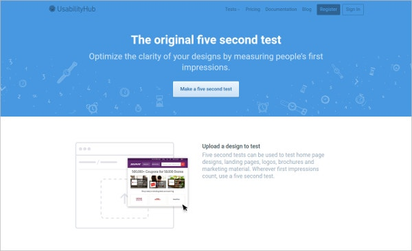 the original five second test optimize