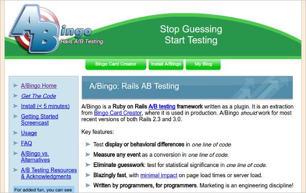 A-Bingo: Rails AB Testing