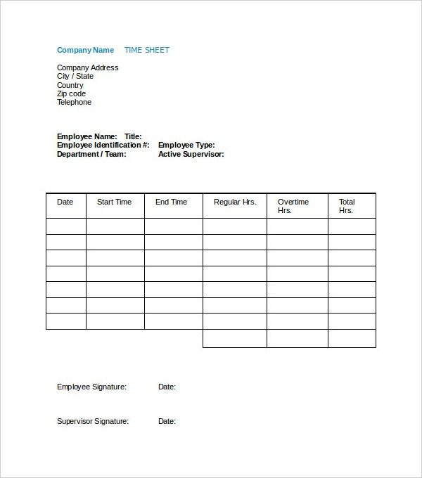 employee payroll time sheet template download
