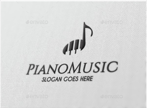 simple piano music logo
