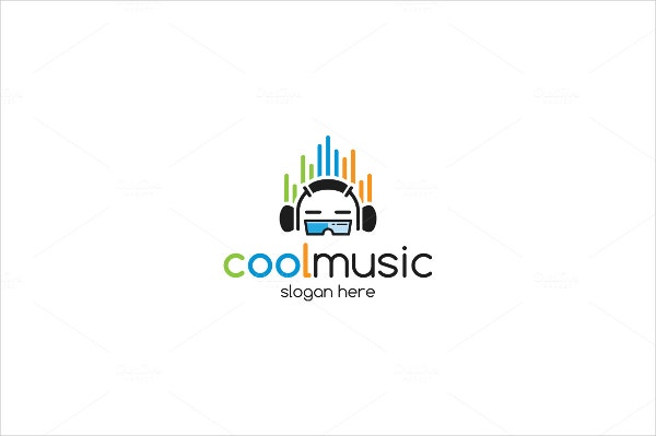 Cool Headset Music Logo