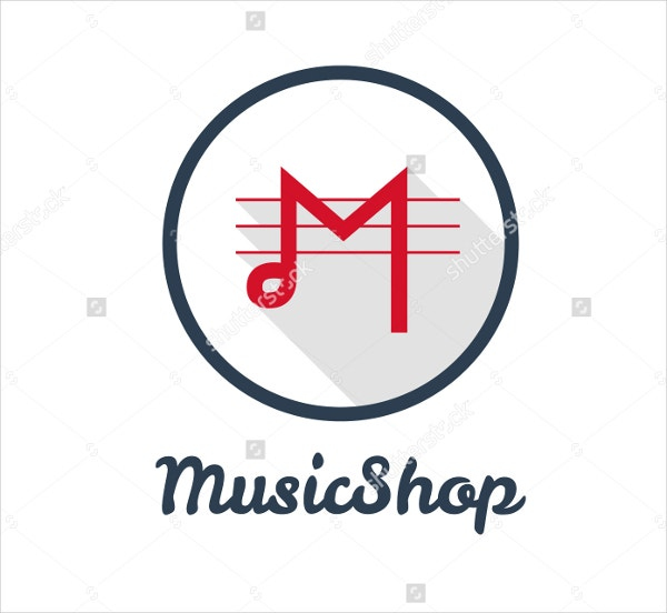 minimalistic music shop logo