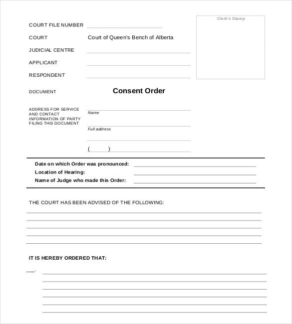 Blank Order Form Template  Contact Information Form Template