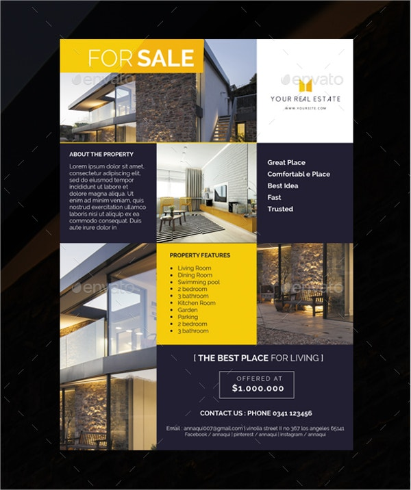 simple elegant real estate flyer
