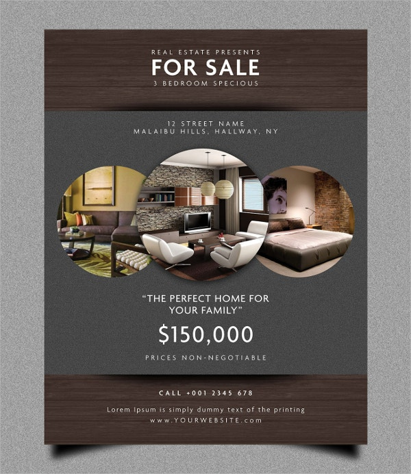 Rustic Real Estate Flyer Template