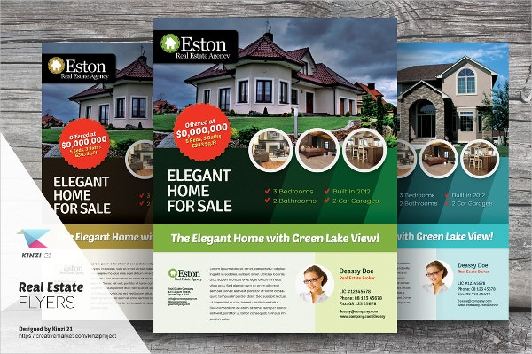 Elegant Real Estate Flyer Template