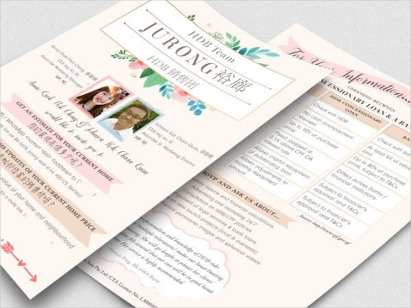 a5 real estate flyer template