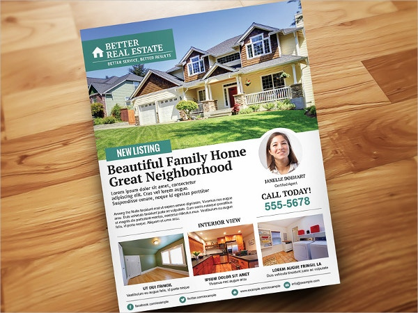 minimal real estate flyer