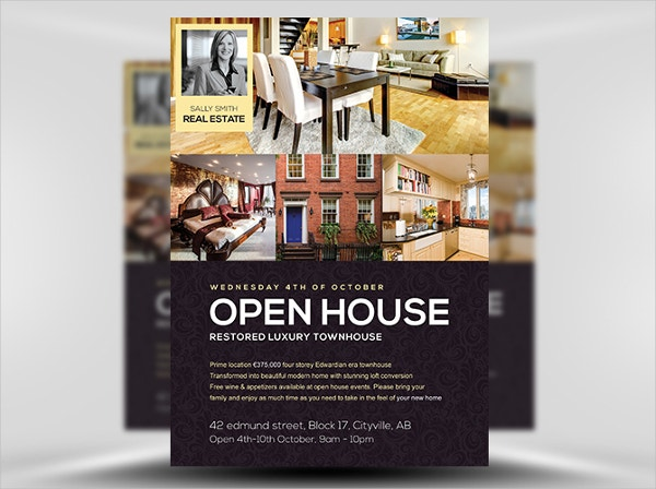 28 real estate flyer templates free psd ai eps format open house flyer template pronofoot35fo Images