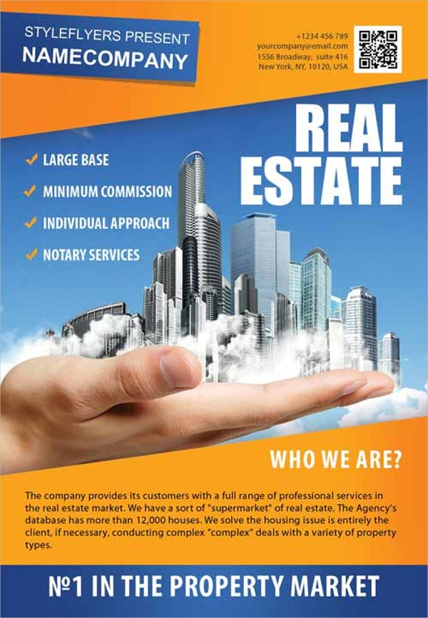 Real Estate Company Free Flyer Template  Now Hiring Flyer Template