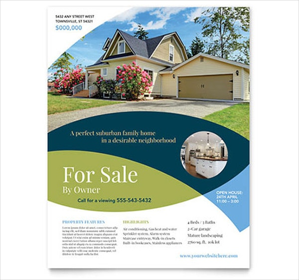 For Sale Real Estate Flyer Template