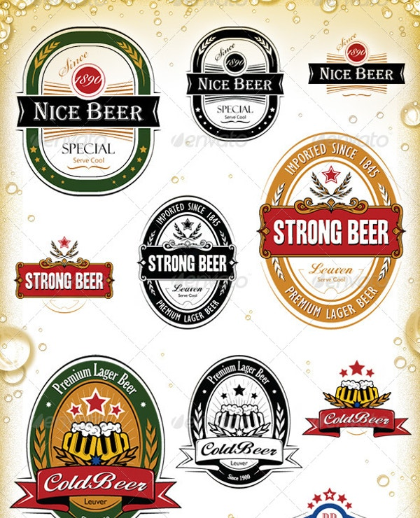 beer labels templates