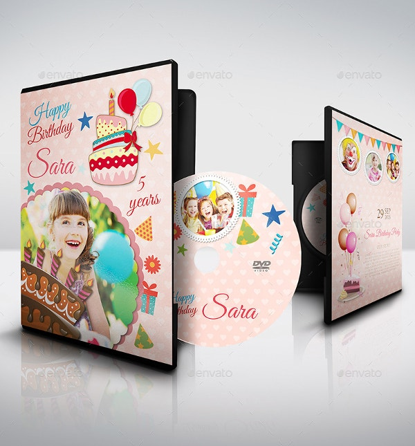 birthday party dvd cover label template
