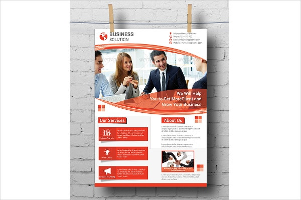 Business Solution A4 Flyer Template