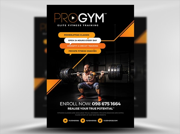 Gym Business Flyer Template