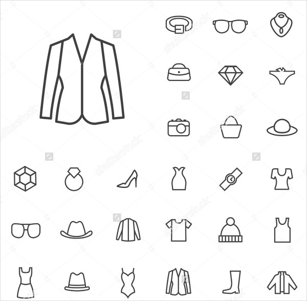 web fashion icon set