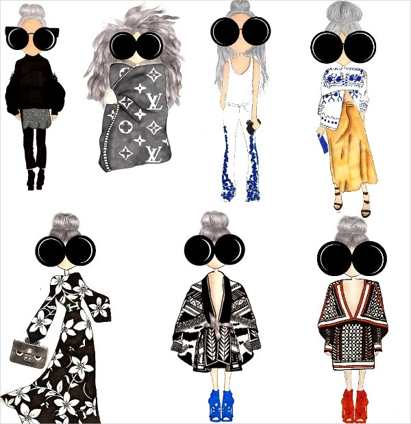 Fashion Bloggers Girls Icon