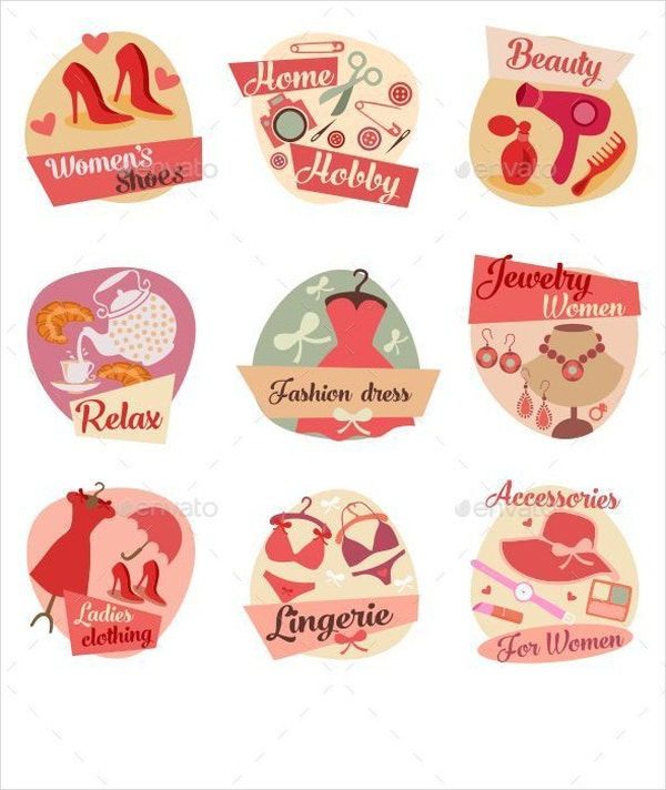 fashion accessories flat icons