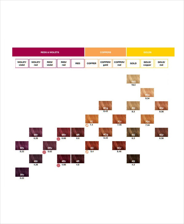 Hair Color Chart Download