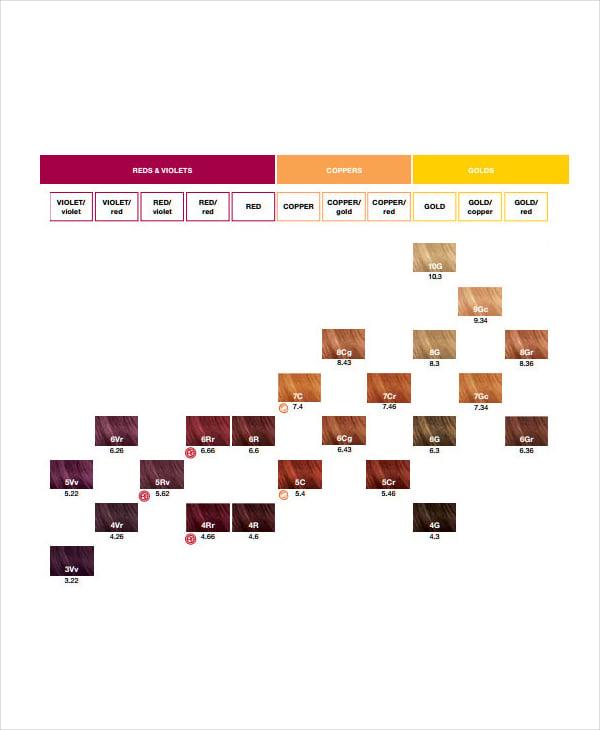 hair color chart pdf