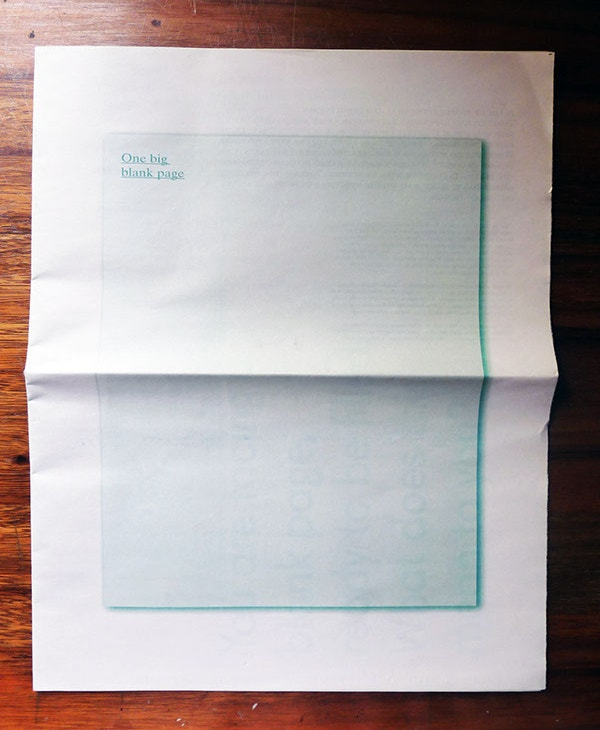 blank newspaper template