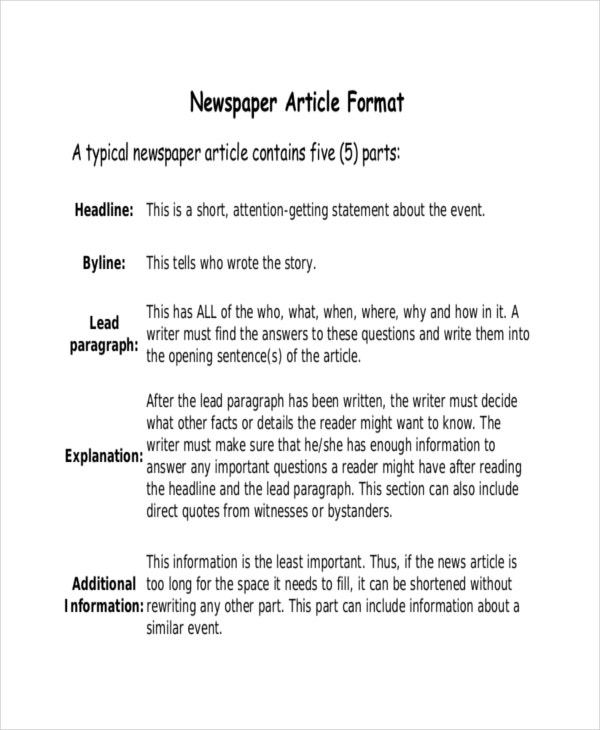 Newspaper Template – 15+ Free Word, Pdf, Psd Documents Download