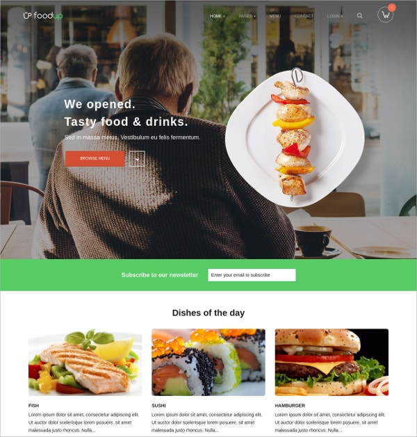 Food & Restaurant WordPress Theme $59
