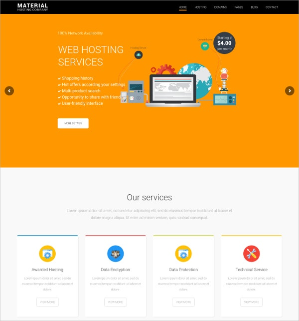 Creative Domain & Hosting WordPress Theme $49