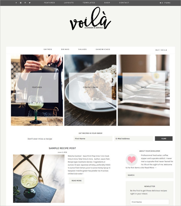 Photography WordPress Theme $75