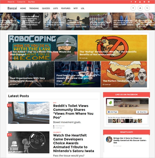 News WordPress Theme $49
