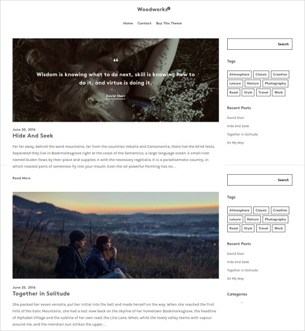 Professional Photography WordPress Theme $49