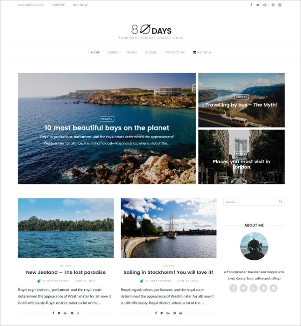 WordPress Travel Theme $49