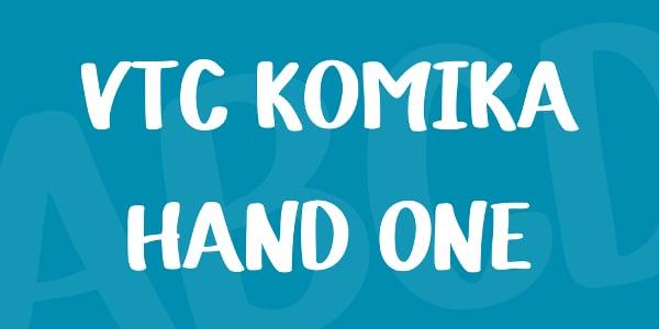 Komika Hand One Font