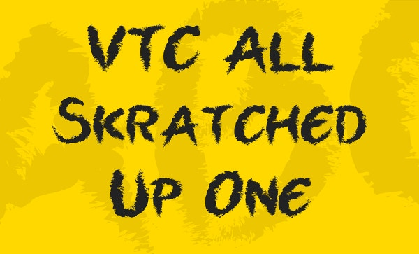 vtc all skratched up one font