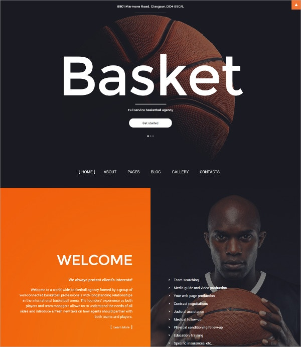 Basket Ball Agency Joomla Template $75