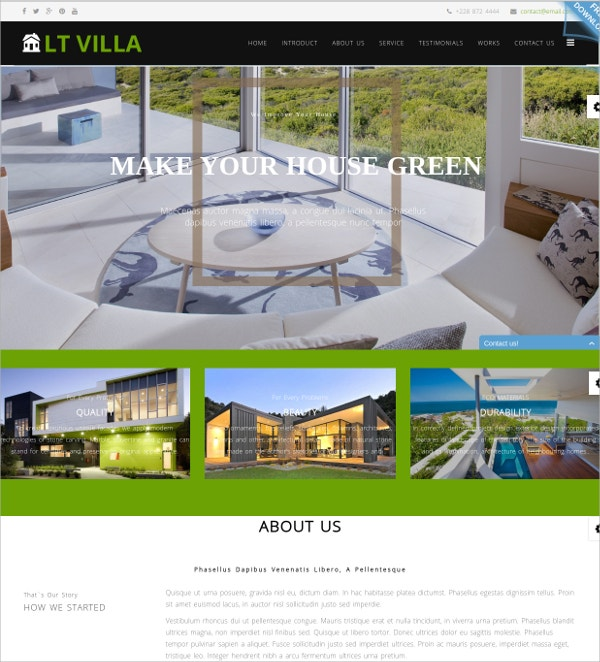 Real Estate One Page Joomla Template $19
