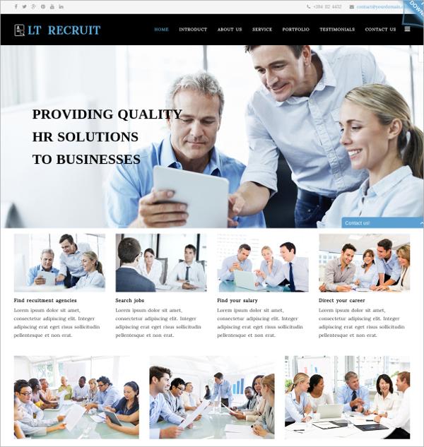 Company One Page Joomla Template $19