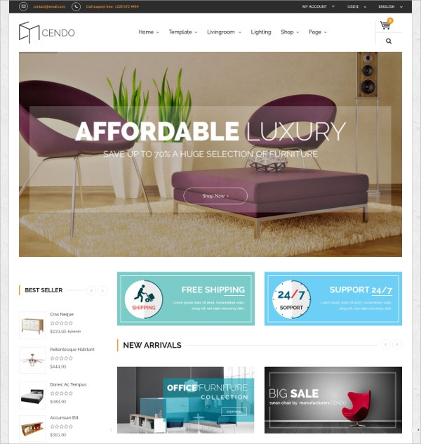 Multipurpose Joomla Virtuemart Template $48