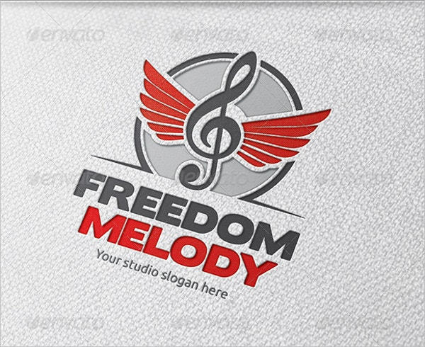 cool freedom music logo