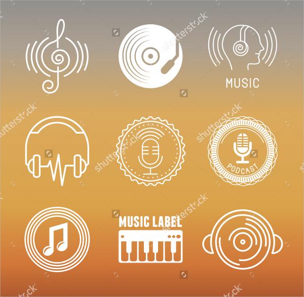 Vector musical logos