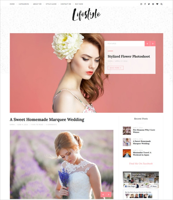 Life Style WordPress Blog Theme $49