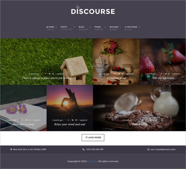 Magazine & Blogging WordPress Theme $59